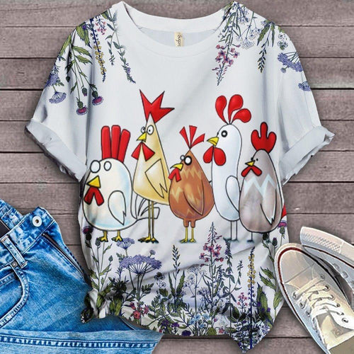 Chicken Fabulous Unique Design Art T-Shirt 25