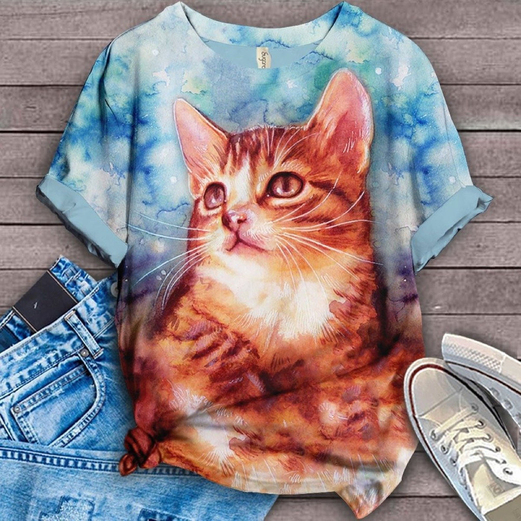 Cat Urban Love You T-Shirt 48