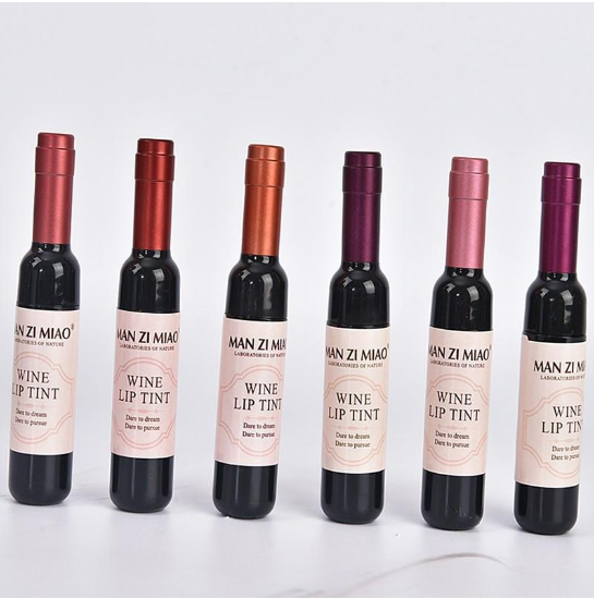 Wine Bottle Waterproof Long Lasting Lipgloss 6 Colors