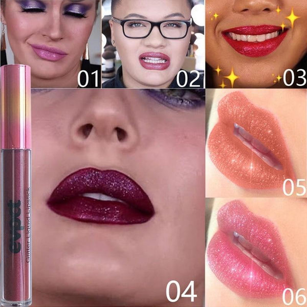 Long Lasting Waterproof Glitter Lip Gloss