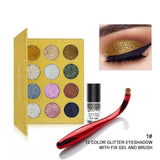 Pressed Glitters Eyeshadow Palette /12 Colors