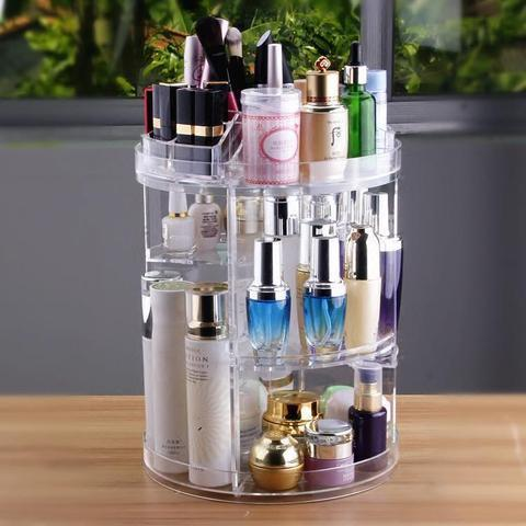 50% OFF Only 3 days Limited Time Offer——360° rotating Crystal Cosmetic storage box