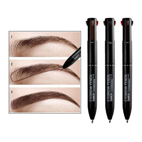 4 In 1 Eyebrow Pencil Rotating Pressed Refills Eyeliner And Lip Liner