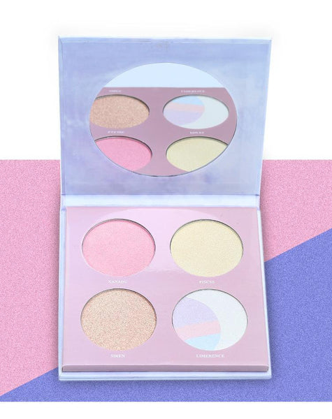 Marble 4 Color Polarized Color Highlighter Powder