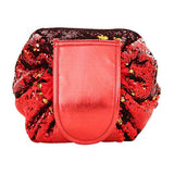 Sequined Toiletry Bag with Drawstring Closure, 4 colors available