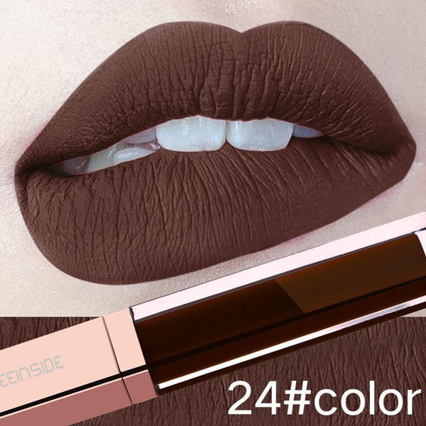 24-Color Liquid Waterproof Long-Lasting Lip gloss