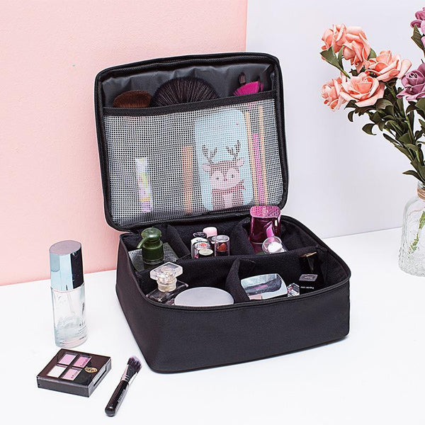 Portable Travel Makeup Bag Makeup Case Mini Makeup Train Case 9.8''