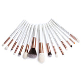 Pearl White/Rose Gold Professional Makeup Brushes Set