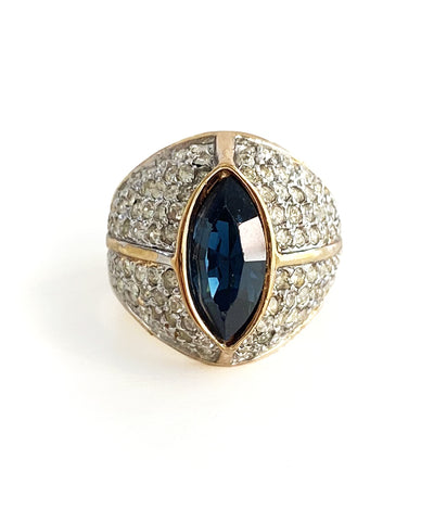 Vintage Cat's Eye Cocktail Ring