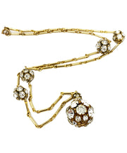 Vintage Rhinestone Ball Necklace