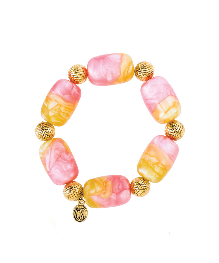 Galactic Candy Bracelet (Pink & Yellow)