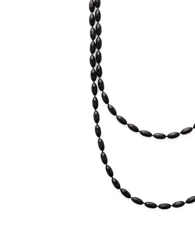 Charleston Rice Bead Necklace (Midnight)