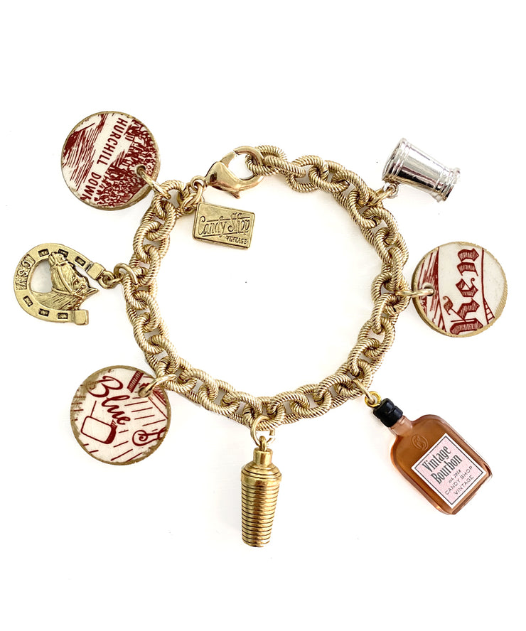 Kentucky Derby Charm Bracelet (Cafe Pharoah)