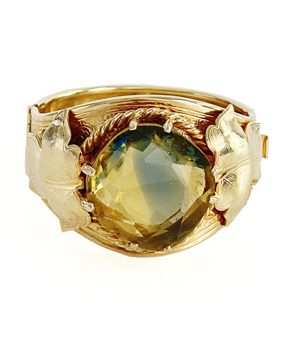 Vintage Ombré Glass Stone Bangle