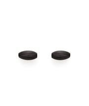 Rice Bead Stud Earrings (Midnight)