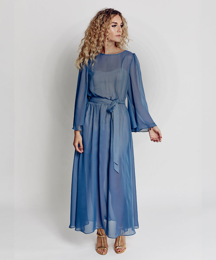 Cocktail Gown (Dusky Blue)