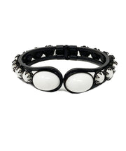 Vintage Black and White Cabochon Bracelet