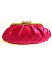 Vintage Pink Silk Evening Clutch
