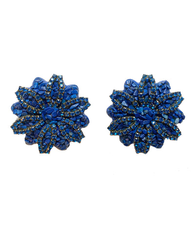Vintage 80s Floral Earrings