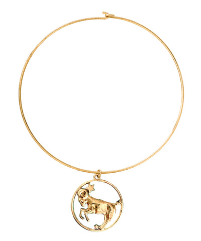 70s Inspired Zodiac Necklace (Capricorn)