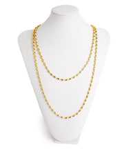 Charleston Rice Bead Necklace (Shiny Gold)