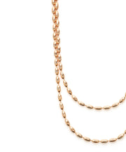 Charleston Rice Bead Necklace (Rose Gold)