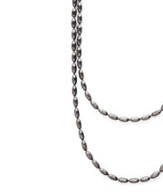 Charleston Rice Bead Necklace (Gunmetal)