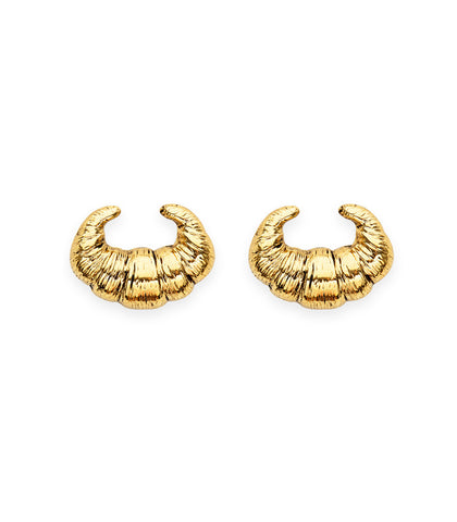 Croissant Stud Earrings by Candy Shop Vintage
