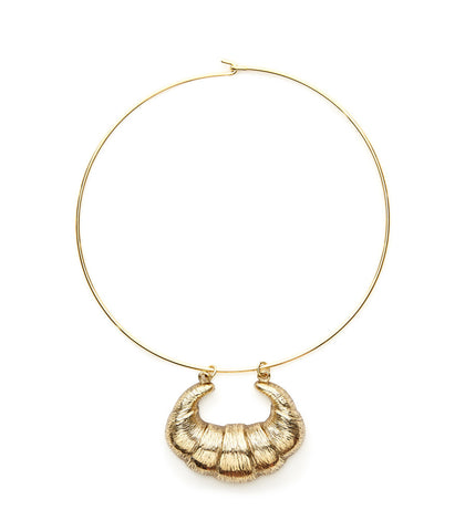 Oversize Croissant Necklace by Candy Shop Vintage
