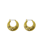 Zodiac Mini Hoop Earrings (Cancer)