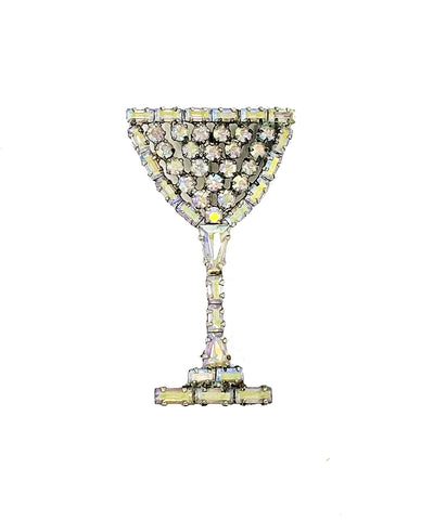 Vintage Champagne Coupe Brooch