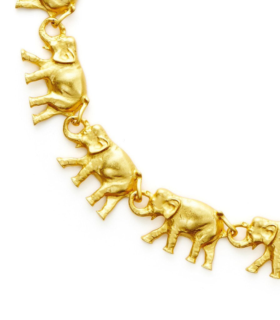 Elephants On Parade Necklace by Candy Shop Vintage