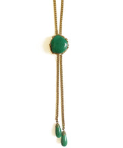 Vintage Green Bolo Style Necklace