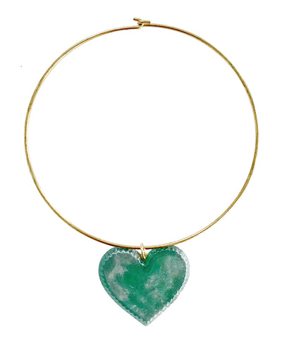 Candy Heart Necklace (Garden Green)