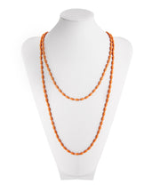 Charleston Rice Bead Necklace (Guava)