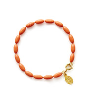 Charleston Rice Bead Bracelet (Guava)