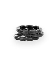 Stackable Rice Bead Ring (Gunmetal)