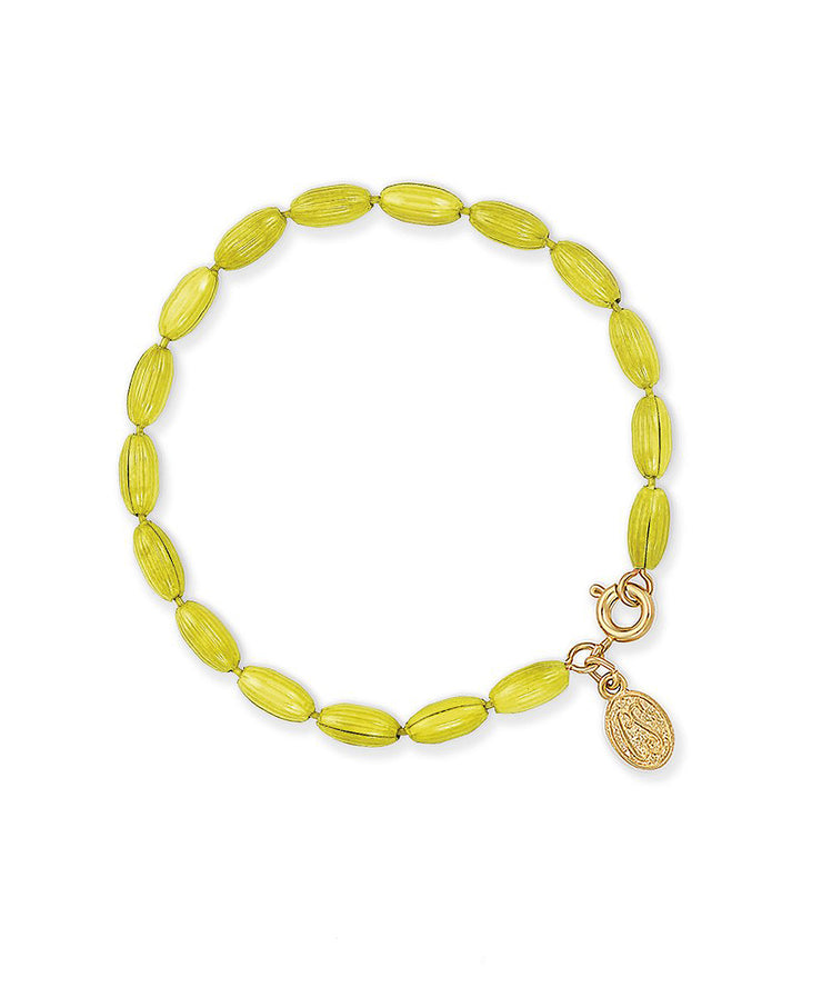 Charleston Rice Bead Bracelet (Key Lime)