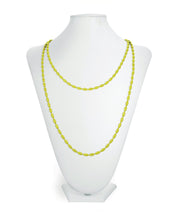 Charleston Rice Bead Necklace (Key Lime)