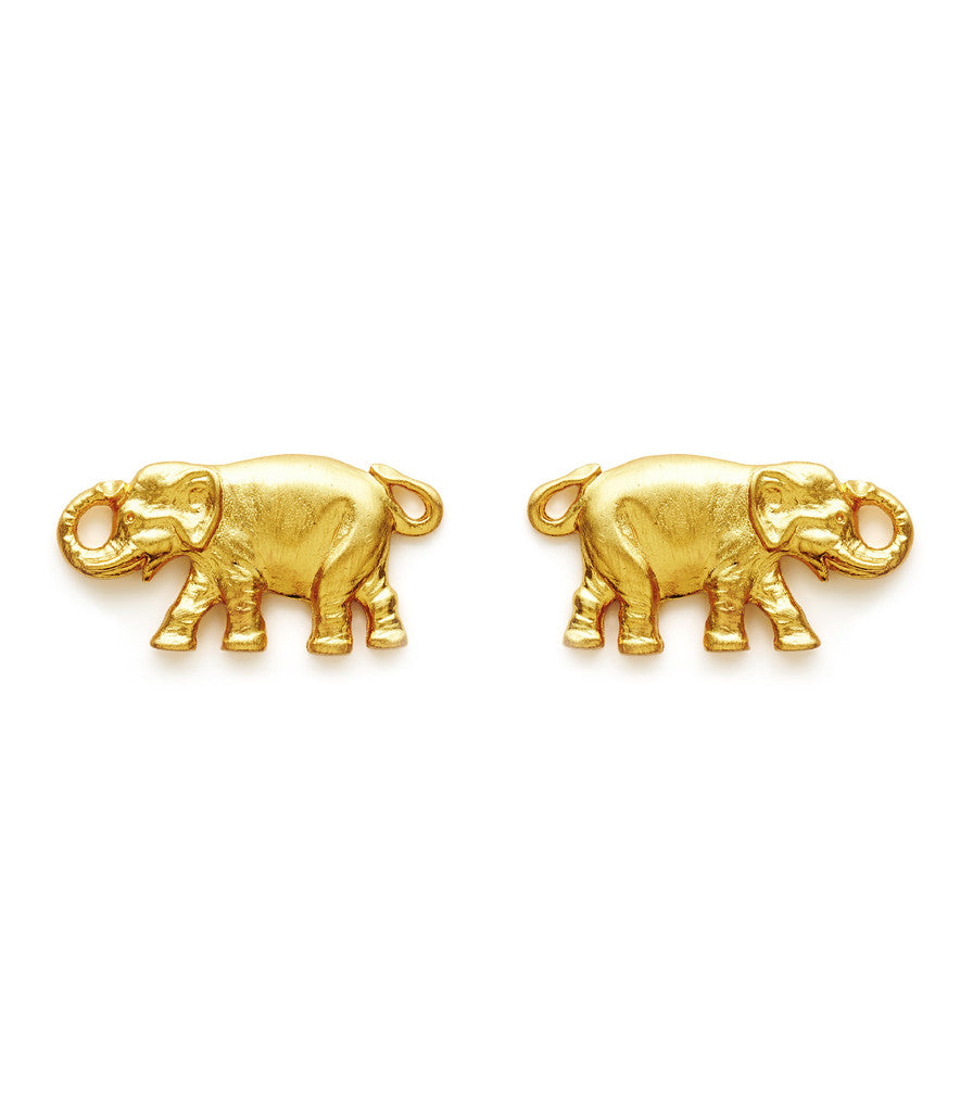 enamel large elephant p earrings