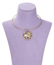70s Inspired Zodiac Necklace (Leo)
