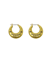 Zodiac Mini Hoop Earrings (Libra)