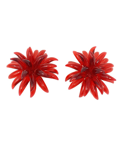 Vintage Red Lucite Party Earrings