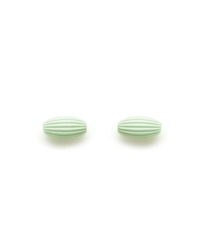 Rice Bead Stud Earrings (Mint Julep)