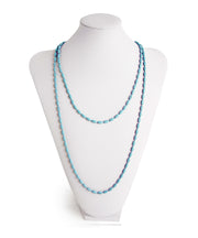 Charleston Rice Bead Necklace (Moody Blue)