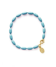 Charleston Rice Bead Bracelet (Moody Blue)