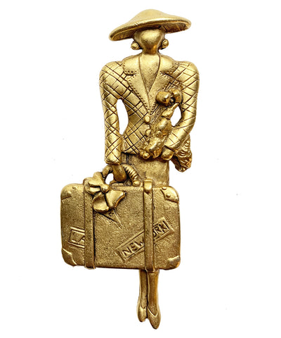 Vintage Chic Traveler Brooch