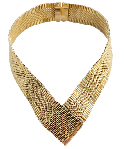Vintage V-Shaped Napier Collar Necklace