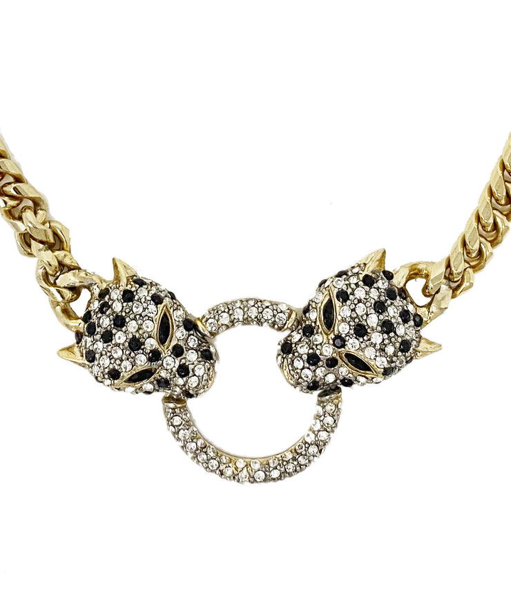 Vintage Jaguar Head Necklace