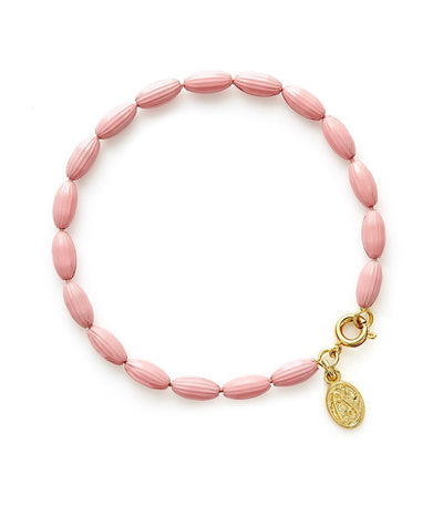 Charleston Rice Bead Bracelet (Pretty In Pink)